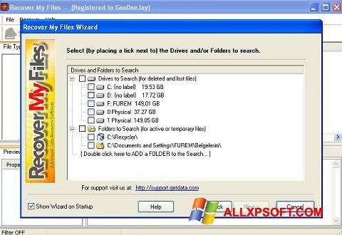 Skärmdump Recover My Files för Windows XP