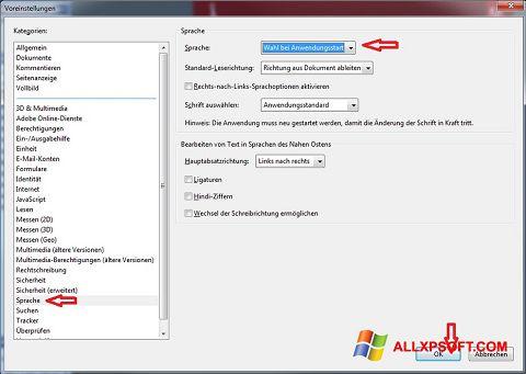 Skärmdump Adobe Reader för Windows XP