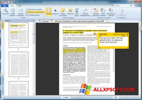 Skärmdump Nitro PDF Reader för Windows XP