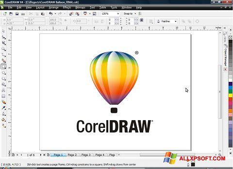 Skärmdump CorelDRAW för Windows XP