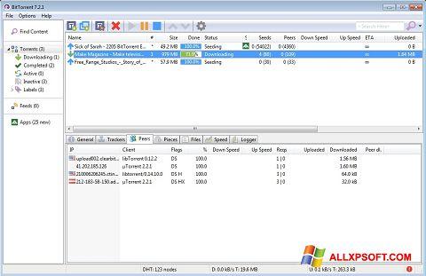 Skärmdump BitTorrent för Windows XP