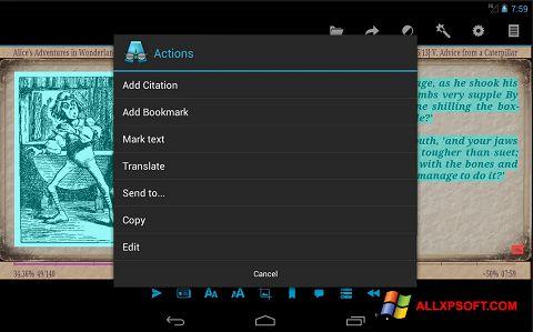 Skärmdump AlReader för Windows XP