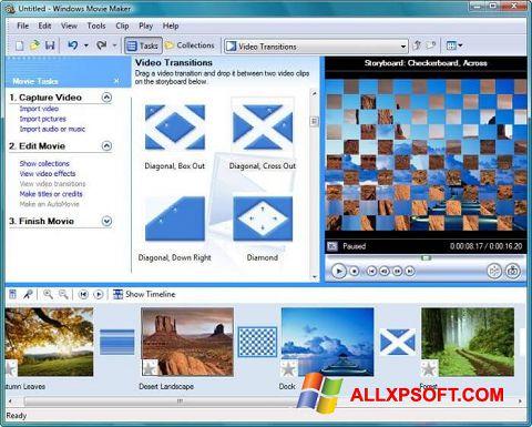 Skärmdump Windows Movie Maker för Windows XP