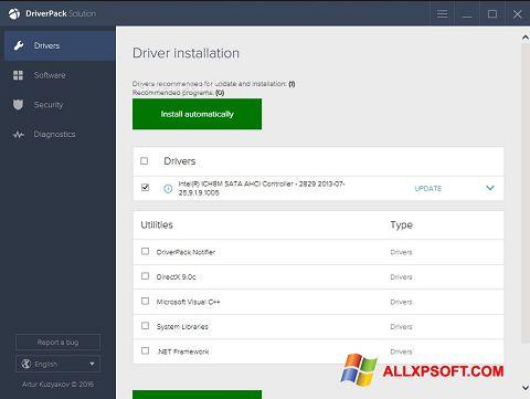 Skärmdump DriverPack Solution för Windows XP