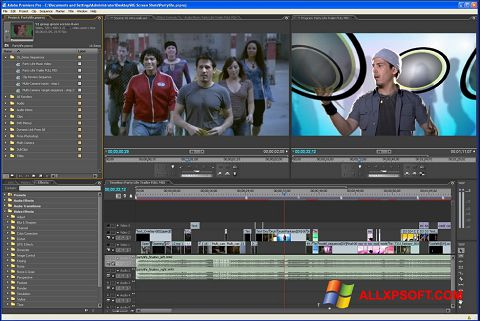 Skärmdump Adobe Premiere Pro för Windows XP
