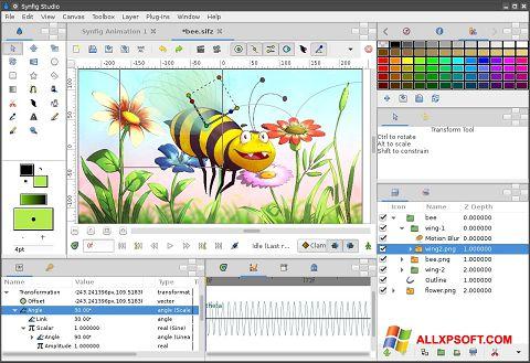 Skärmdump Synfig Studio för Windows XP