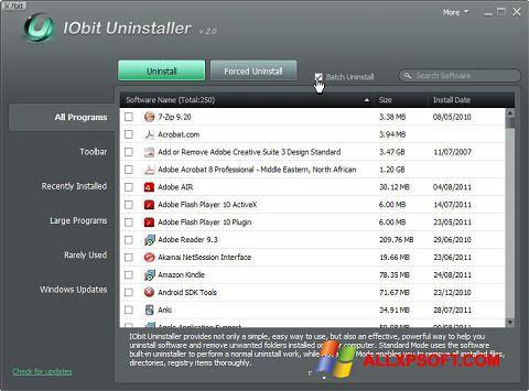 Skärmdump IObit Uninstaller för Windows XP