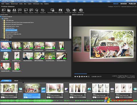 Skärmdump ProShow Producer för Windows XP