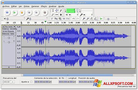 Skärmdump Audacity för Windows XP