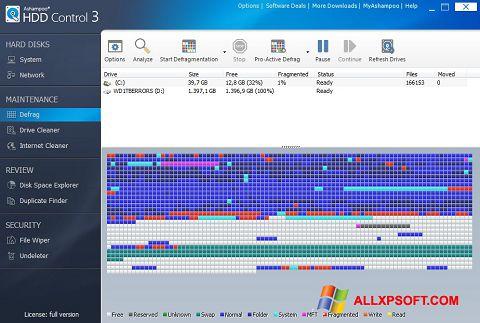 Skärmdump Ashampoo HDD Control för Windows XP