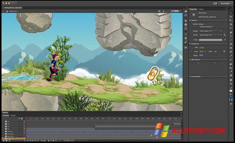Skärmdump Adobe Flash Professional för Windows XP