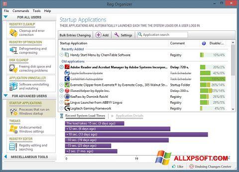 Skärmdump Reg Organizer för Windows XP