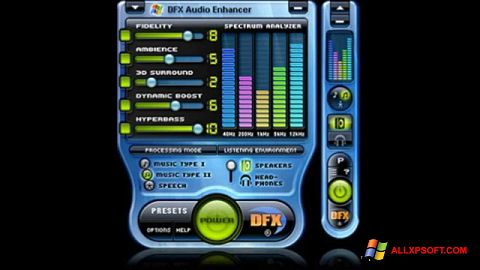 Skärmdump DFX Audio Enhancer för Windows XP