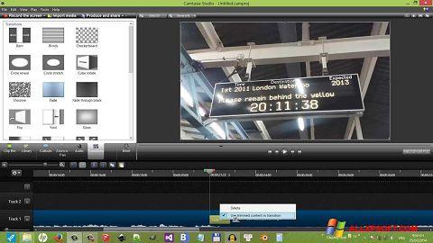 Skärmdump Camtasia Studio för Windows XP