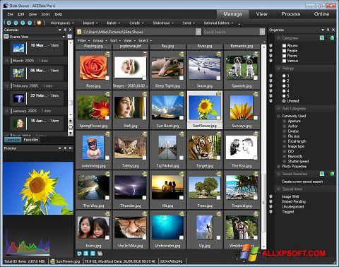 Skärmdump ACDSee för Windows XP