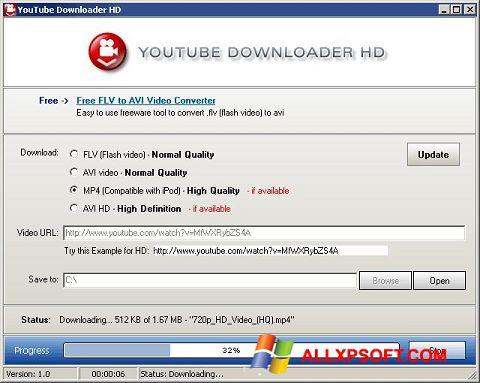 Skärmdump Youtube Downloader HD för Windows XP