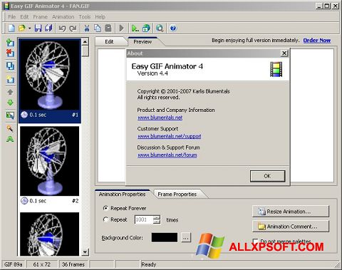 Skärmdump Easy GIF Animator för Windows XP